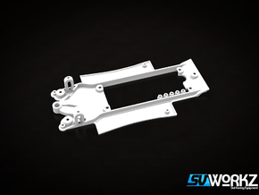 SV Workz - Radical SR3 - Chassis Inline (1:32) in White Processed Versatile Plastic