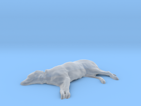 Lounging Labrador Dog in Smooth Fine Detail Plastic