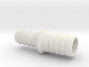 Hose Adapter  in White Natural Versatile Plastic: Large
