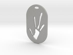 Alien Hand Print in Aluminum