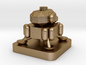 Mini Space Program, Crew Lander in Polished Gold Steel