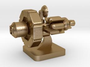 Mini Space Program, Interplanetary Ship 4 in Polished Gold Steel