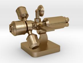 Mini Space Program, Interplanetary Ship 2 in Polished Gold Steel