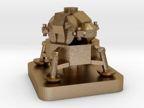 Mini Space Program, Apollo Lunar Lander in Polished Gold Steel