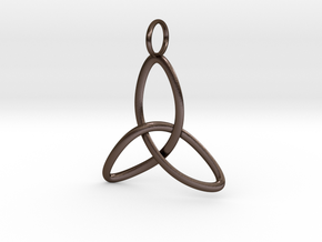 Single Celtic Knot - Thin in Polished Bronze Steel