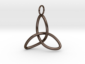Celtic Knot, simple in Polished Bronze Steel