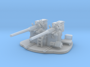 1/96 Scale 3 inch 50 Cal Twin Gun in Smooth Fine Detail Plastic