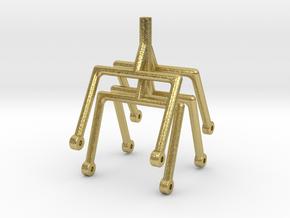 LNWR bolster hoops Gauge 3 in Natural Brass