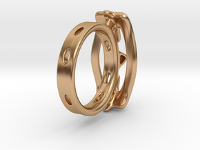 Abstract curved Ring in Polished Bronze: 7 / 54