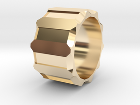 Personal ring in 14k Gold Plated Brass: 8 / 56.75