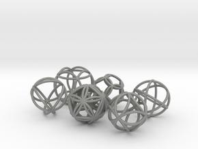 Metatronic Spheres (6 in set) in Gray PA12
