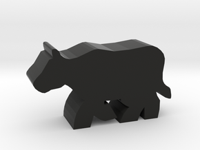 Game Piece, Cow Running in Black Natural Versatile Plastic