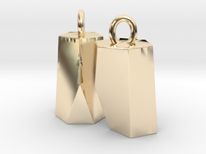 Scutoid Earrings (solid version) in 14k Gold Plated Brass