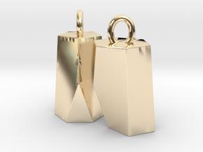 Scutoid Earrings (hollow version) in 14k Gold Plated Brass