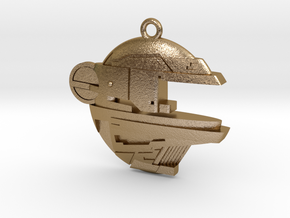 BalticSeaAnomaly Keychain in Polished Gold Steel