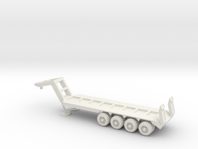 1/50 Scale M747 Semitrailer Low Bed in White Natural Versatile Plastic