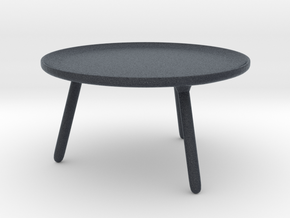Miniature Norman Copenhagen Table in Black PA12: 1:12