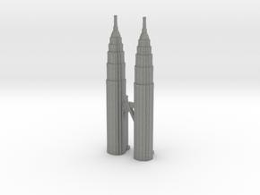 Petronas Towers - Kuala Lumpur (3 inch) in Gray PA12