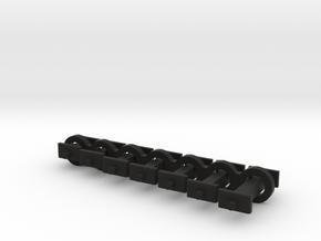 N Scale Fixed Coupling Drabars - Sample Set in Black Natural Versatile Plastic