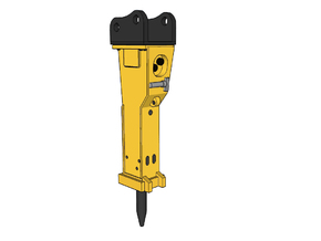 HO - Hydraulic Hammer for 20-25t excavators in Smooth Fine Detail Plastic