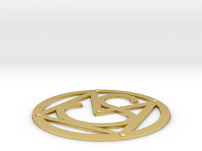Morane-Saulnier Insignia - 1/3 scale in Polished Brass