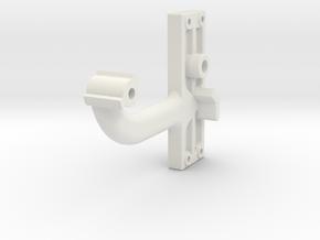 Signal Semaphore Arm (Short) no bolts 1:19 scale in White Natural Versatile Plastic