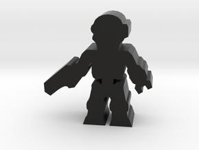 Game Piece, Killer Robot, standing, pistol in Black Natural Versatile Plastic
