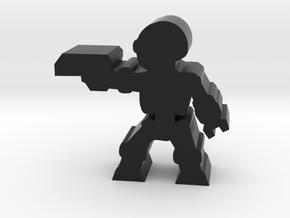 Game Piece, Killer Robot, aiming, pistol in Black Natural Versatile Plastic