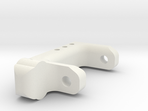 Right Front Lowering Caster Block 15 Degree in White Natural Versatile Plastic