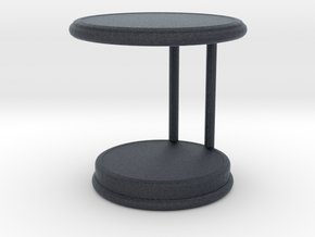 Miniature Rugiano Oblo Side Table - Rugiano in Black PA12: 1:12