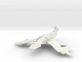 Klingon WildWind Class GunDestroyer in White Natural Versatile Plastic