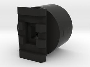 TeleScopix to AR15 Buffer Tube Adapter in Black Natural Versatile Plastic