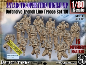 1/80 Antarctic Troops Set101 in Smooth Fine Detail Plastic
