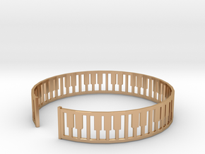 simple piano frame cuff in Polished Bronze: Medium