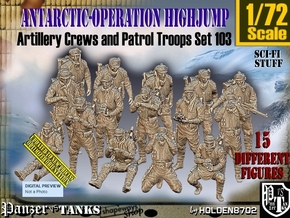 1/72 Antarctic Troops Set103 in Smooth Fine Detail Plastic