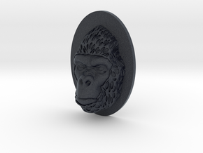 Gorilla Face + Half-Voronoi Mask (001) in Black PA12