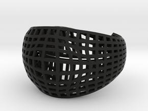 Neo Geometricism* Bangle ( Large ) in Black Premium Versatile Plastic