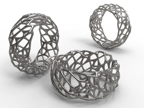 Voro Ring No.1 in Polished Silver