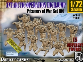 1/72 Antarctic Troops Set104 in Smooth Fine Detail Plastic