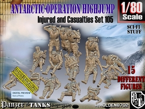 1/80 Antarctic Troops Set105 in Smooth Fine Detail Plastic