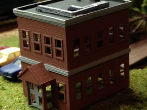 City Building in Smooth Fine Detail Plastic