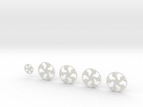 28 Corleone Geraci 26.2 in White Natural Versatile Plastic