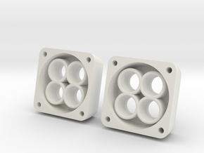 VS410 Vanquish 4 LED Headlight Bucket  in White Natural Versatile Plastic