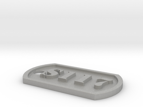 'S117' Master Chief Halo Themed Dog Tag in Aluminum