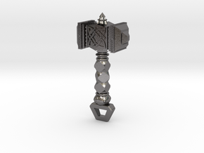 Mjölnir Hammer Pendant in Polished Nickel Steel