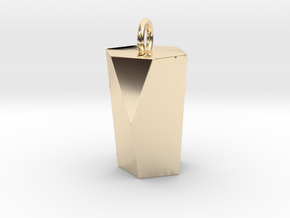 Scutoid Pendant - Version 1 (hollow) in 14k Gold Plated Brass