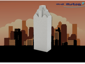 Heritage Plaza - Houston (1:4000) in White Natural Versatile Plastic