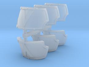 Devastator Centaur shoulder pads x6 #1 in Smooth Fine Detail Plastic