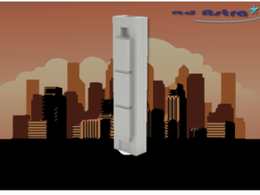 Torre Cepsa - Madrid (1:4000) in White Natural Versatile Plastic