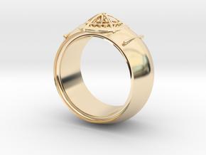 diamond hide ring  in 14K Yellow Gold